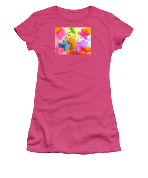 Women's T-Shirt (Junior Cut) featuring the painting Transformed Into His Image by Hazel Holland