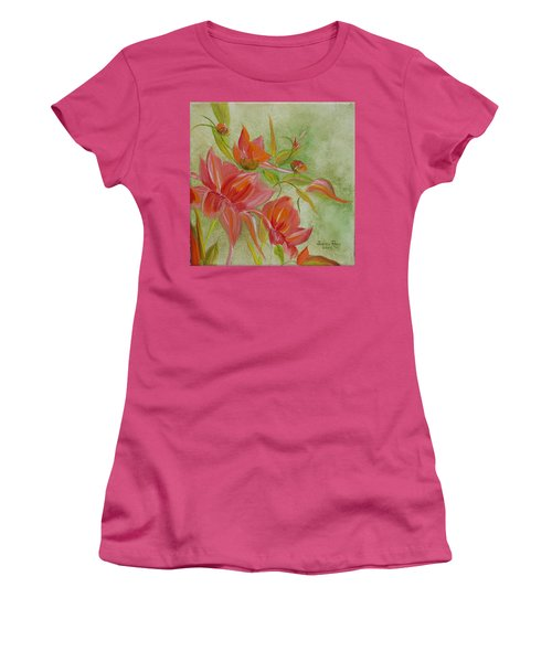 Tropical Splash Women's T-Shirt (Junior Cut) by Judith Rhue