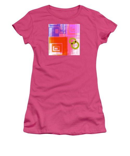 Women's T-Shirt (Junior Cut) featuring the digital art Art Deco Style Digital Art by Susan Leggett