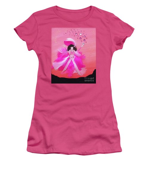 Women's T-Shirt (Junior Cut) featuring the painting Awareness by Alys Caviness-Gober