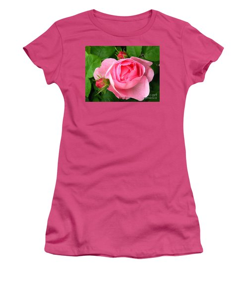 Rose And Rose Buds Women's T-Shirt (Athletic Fit)