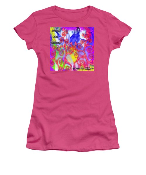 Even In Chaos Find Love Women's T-Shirt (Junior Cut) by Clayton Bruster