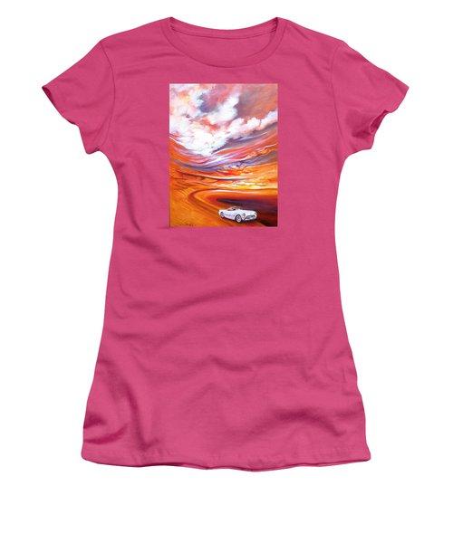 Corvette Heaven Women's T-Shirt (Junior Cut) by Jan VonBokel