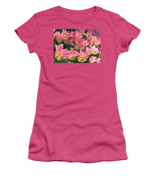 Women's T-Shirt (Athletic Fit) featuring the photograph It's A Girl. Congratulations by Ausra Huntington nee Paulauskaite