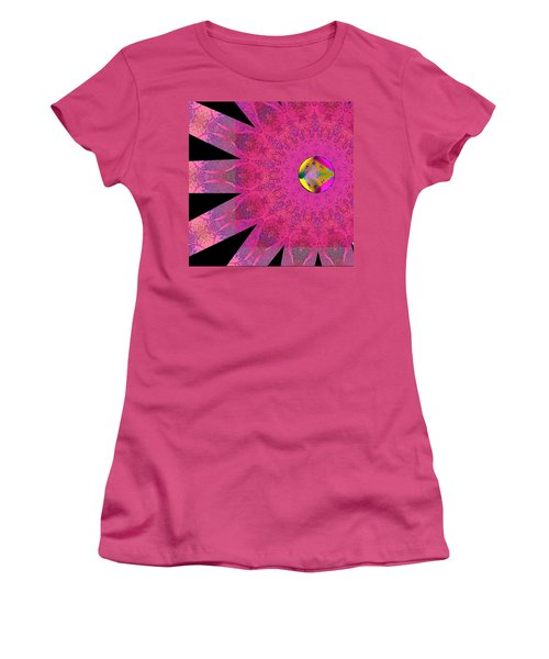 Women's T-Shirt (Junior Cut) featuring the digital art Pink Ribbon Of Hope by Alec Drake