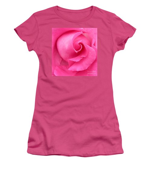 Pink Rose Women's T-Shirt (Junior Cut) by Mark Gilman