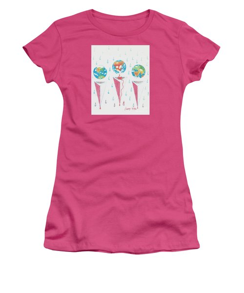Women's T-Shirt (Junior Cut) featuring the drawing Africa Bleeds Cupable Countries by Rod Ismay