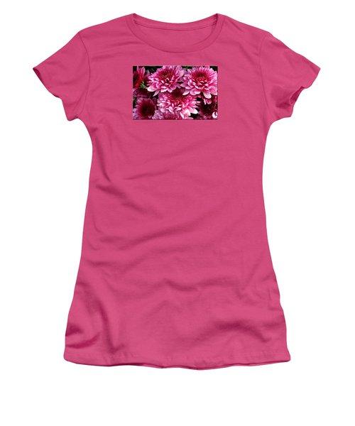 Fall Flowers Women's T-Shirt (Junior Cut)