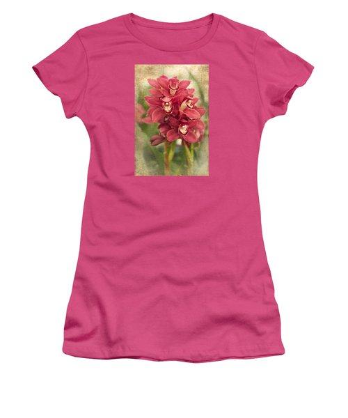 Orchid Women's T-Shirt (Junior Cut) by Catherine Lau