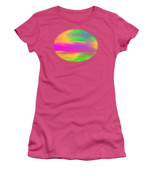 Painted Sky - Abstract Women's T-Shirt (Junior Cut) by Linda Hollis