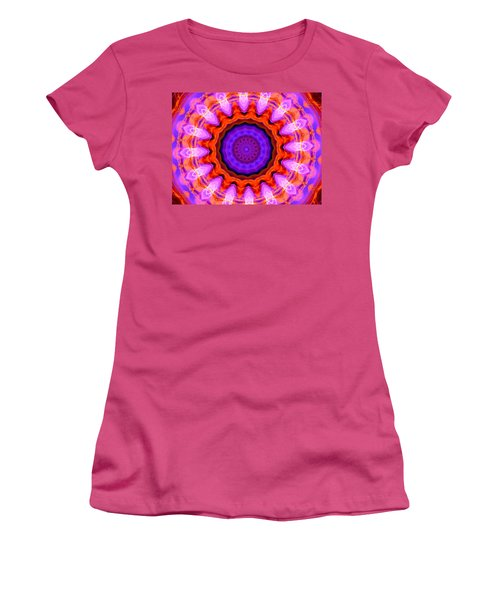 Pink 16-petals Kaleidoscope Women's T-Shirt (Athletic Fit)