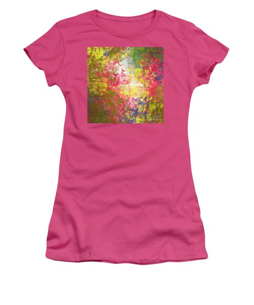 Women's T-Shirt (Junior Cut) featuring the digital art Spring Thoughts by Trilby Cole