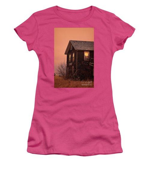 Women's T-Shirt (Junior Cut) featuring the photograph Abandoned House by Jill Battaglia