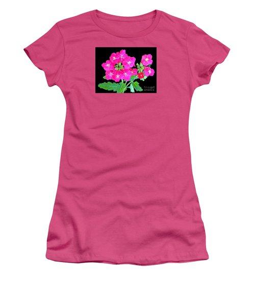 Women's T-Shirt (Junior Cut) featuring the photograph A Ring Of Verbena by Merton Allen