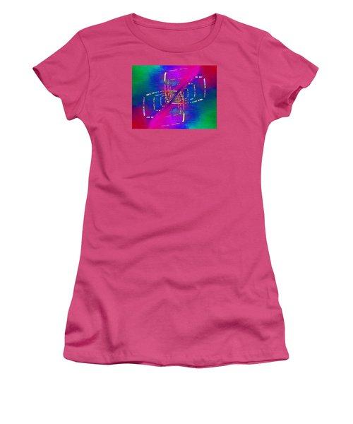 Women's T-Shirt (Junior Cut) featuring the digital art Abstract Cubed 363 by Tim Allen