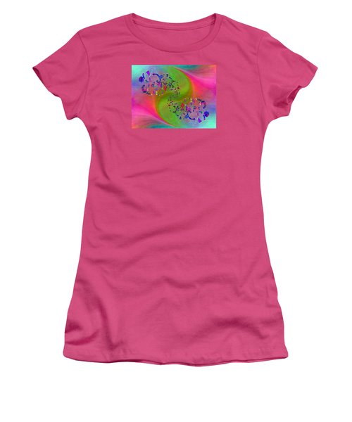 Women's T-Shirt (Junior Cut) featuring the digital art Abstract Cubed 381 by Tim Allen