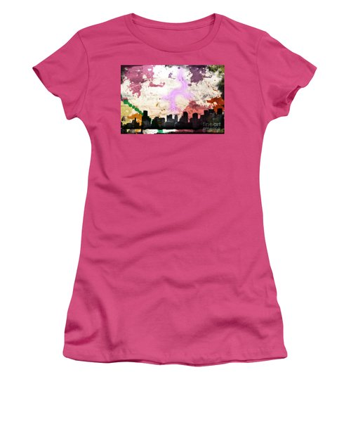 Women's T-Shirt (Junior Cut) featuring the photograph Lightning Strikes  by Gary Smith