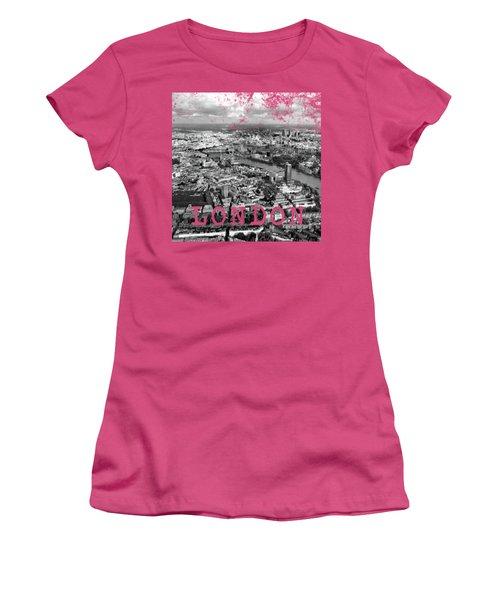 Aerial View Of London Women's T-Shirt (Junior Cut) by Mark Rogan