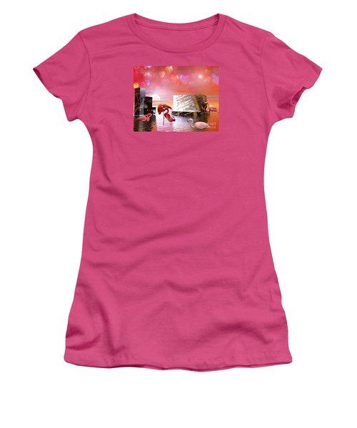At Peace Women's T-Shirt (Junior Cut) by Jacqueline Lloyd