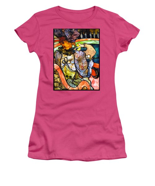 Women's T-Shirt (Junior Cut) featuring the painting Au Nouveau Cirque by Pg Reproductions