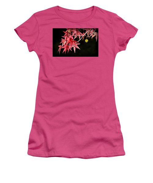 Women's T-Shirt (Athletic Fit) featuring the photograph Autumn Fire by AJ Schibig