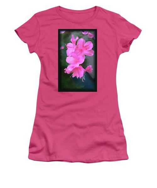 Azalea Spray Women's T-Shirt (Junior Cut) by Ginny Schmidt
