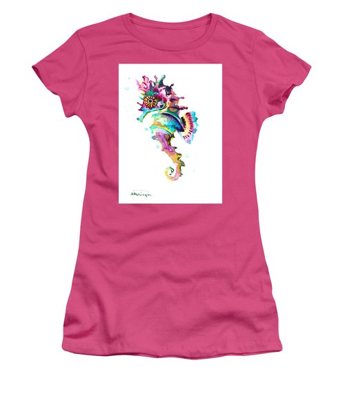 Baby Seahorse Women's T-Shirt (Junior Cut) by Suren Nersisyan
