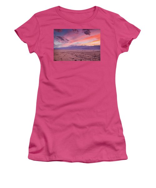 Badwater Sunset Women's T-Shirt (Athletic Fit)