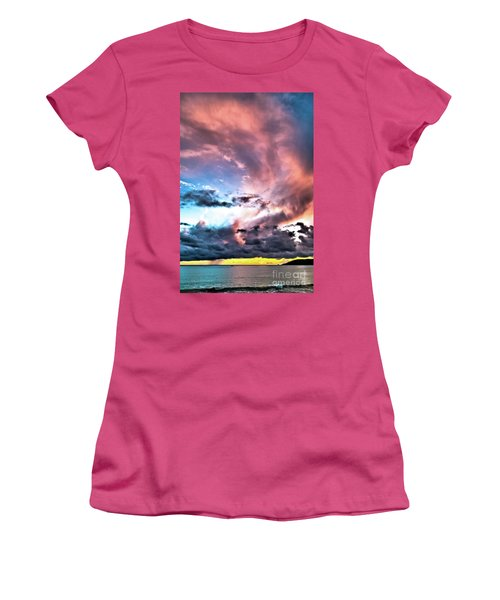 Before The Storm Avila Bay Women's T-Shirt (Junior Cut) by Vivian Krug Cotton