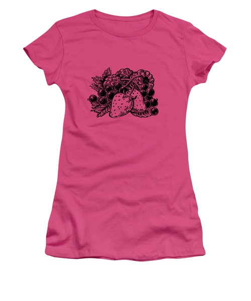 Berries From Forest Women's T-Shirt (Junior Cut) by Irina Sztukowski