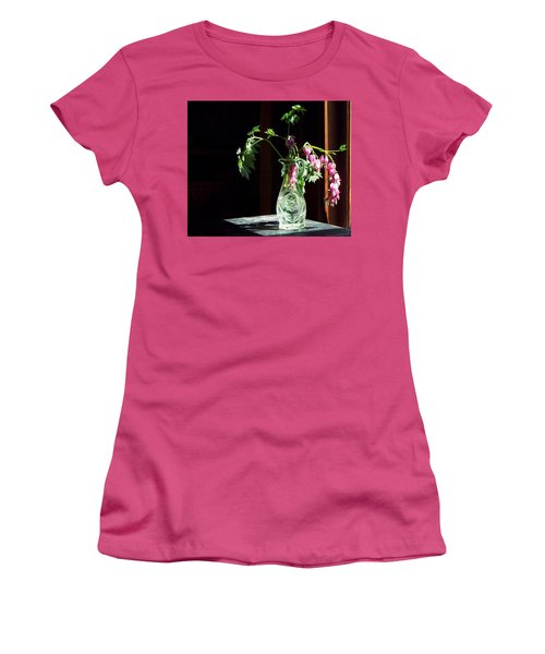 Bleeding Heart Bouquet Women's T-Shirt (Junior Cut) by Joy Nichols