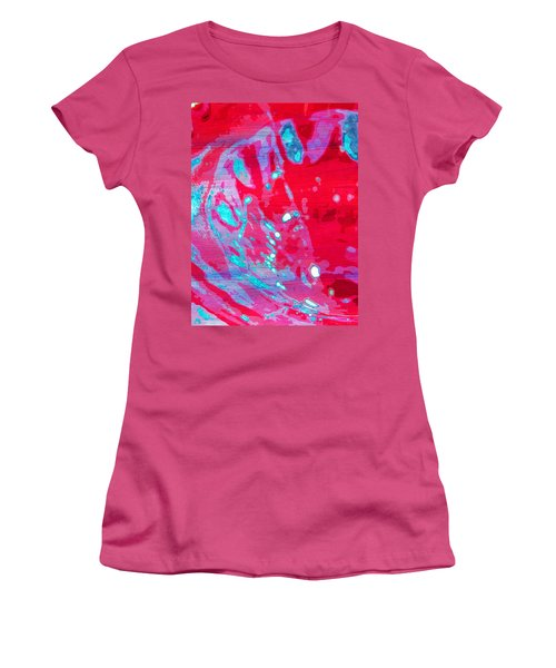 Blue Splash Women's T-Shirt (Junior Cut) by Samantha Thome