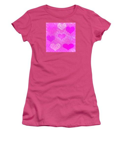 Brick Hearts Women's T-Shirt (Athletic Fit)