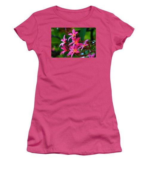 Brilliant Plumeria Women's T-Shirt (Athletic Fit)