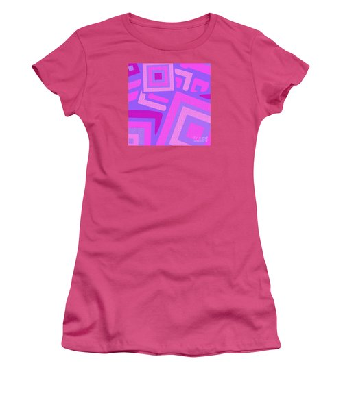 Broken Squares Women's T-Shirt (Athletic Fit)