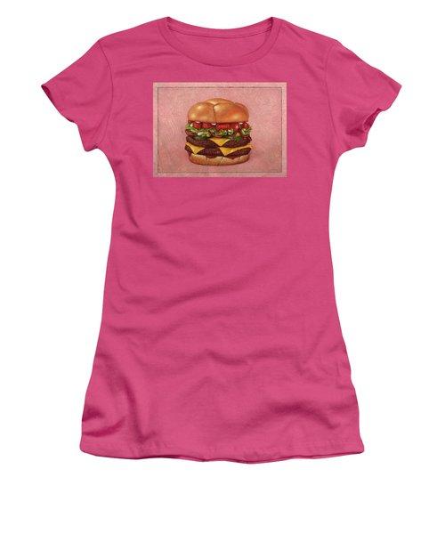 Burger Women's T-Shirt (Athletic Fit)