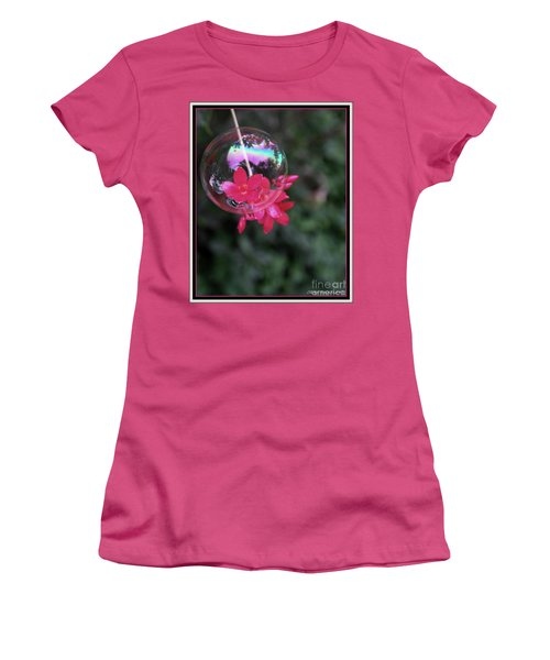 Women's T-Shirt (Junior Cut) featuring the photograph Bursting Free by Irma BACKELANT GALLERIES