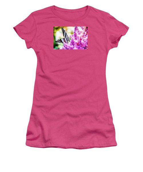 Butterfly Beautiful  Women's T-Shirt (Junior Cut) by Peggy Franz