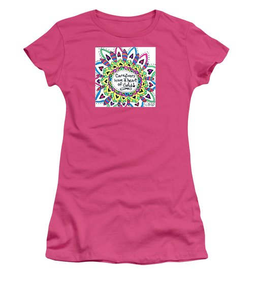 Caregiver Flower Women's T-Shirt (Junior Cut) by Carole Brecht