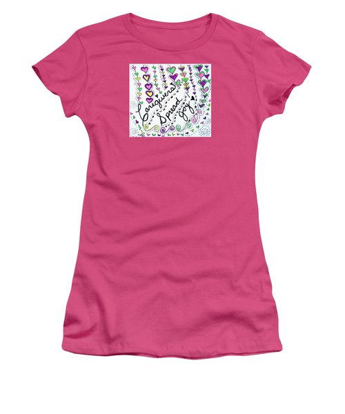 Caregivers Spread Joy Women's T-Shirt (Junior Cut) by Carole Brecht