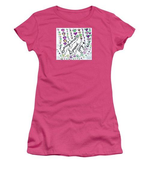 Caregivers Spread Joy Women's T-Shirt (Athletic Fit)