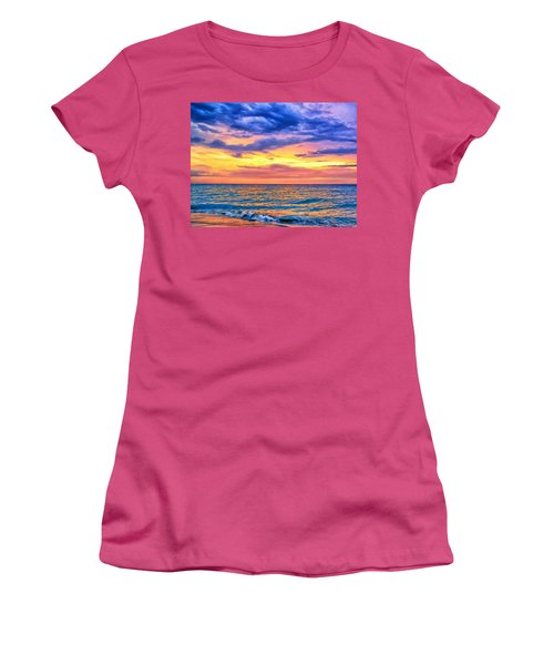 Caribbean Sunset Women's T-Shirt (Junior Cut) by Dominic Piperata
