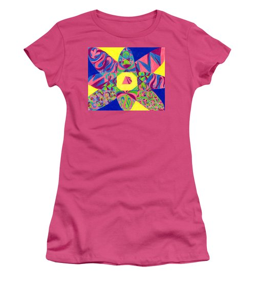Women's T-Shirt (Junior Cut) featuring the drawing Centrifugal by Kim Sy Ok