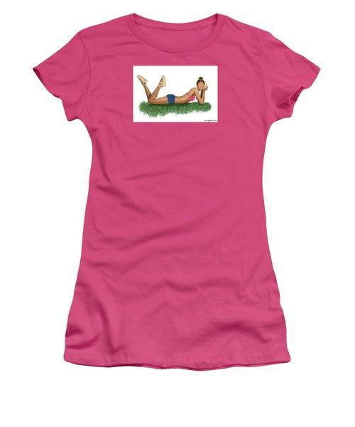 Women's T-Shirt (Junior Cut) featuring the digital art Chloe by Nancy Levan
