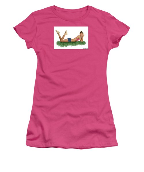 Women's T-Shirt (Athletic Fit) featuring the digital art Chloe by Nancy Levan