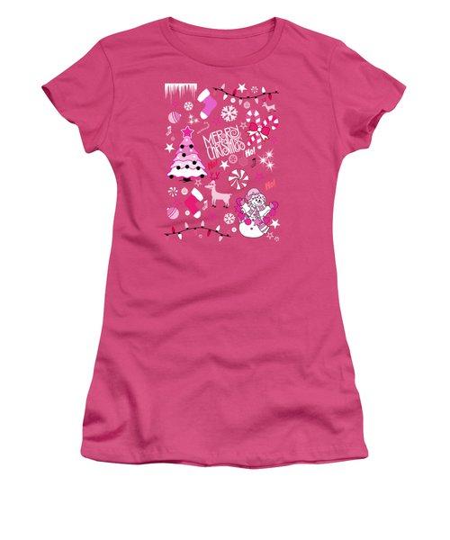 Christmas Women's T-Shirt (Junior Cut) by Mark Ashkenazi