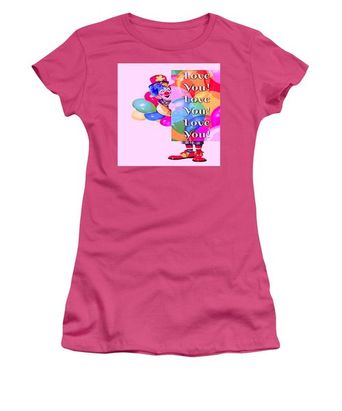 Clown Balloons Love You Women's T-Shirt (Athletic Fit)