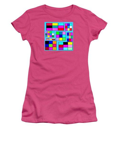 Color Squares Women's T-Shirt (Athletic Fit)