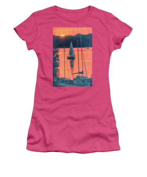 Come Sail Away Women's T-Shirt (Junior Cut) by Pamela Williams