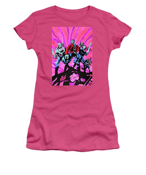 Cosmic Guardians Of The Galaxy 2 Women's T-Shirt (Athletic Fit)